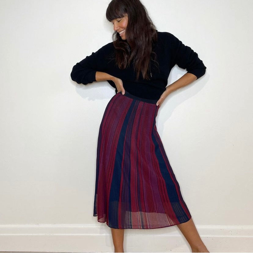 Nicole Adolphe in the Divine Hooded Knit and the Evolve Skirt