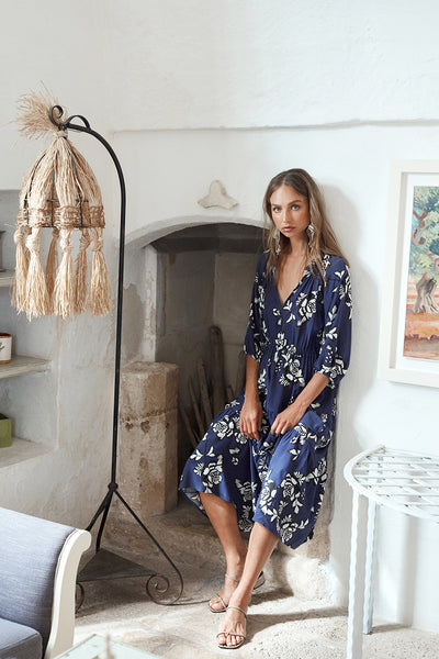 Izi wears the Adriatic Tea Dress