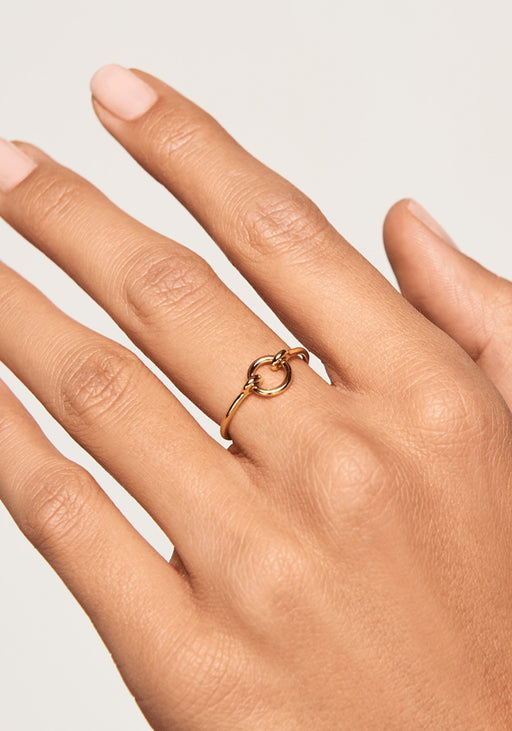 Chance Gold Open Circle Ring
