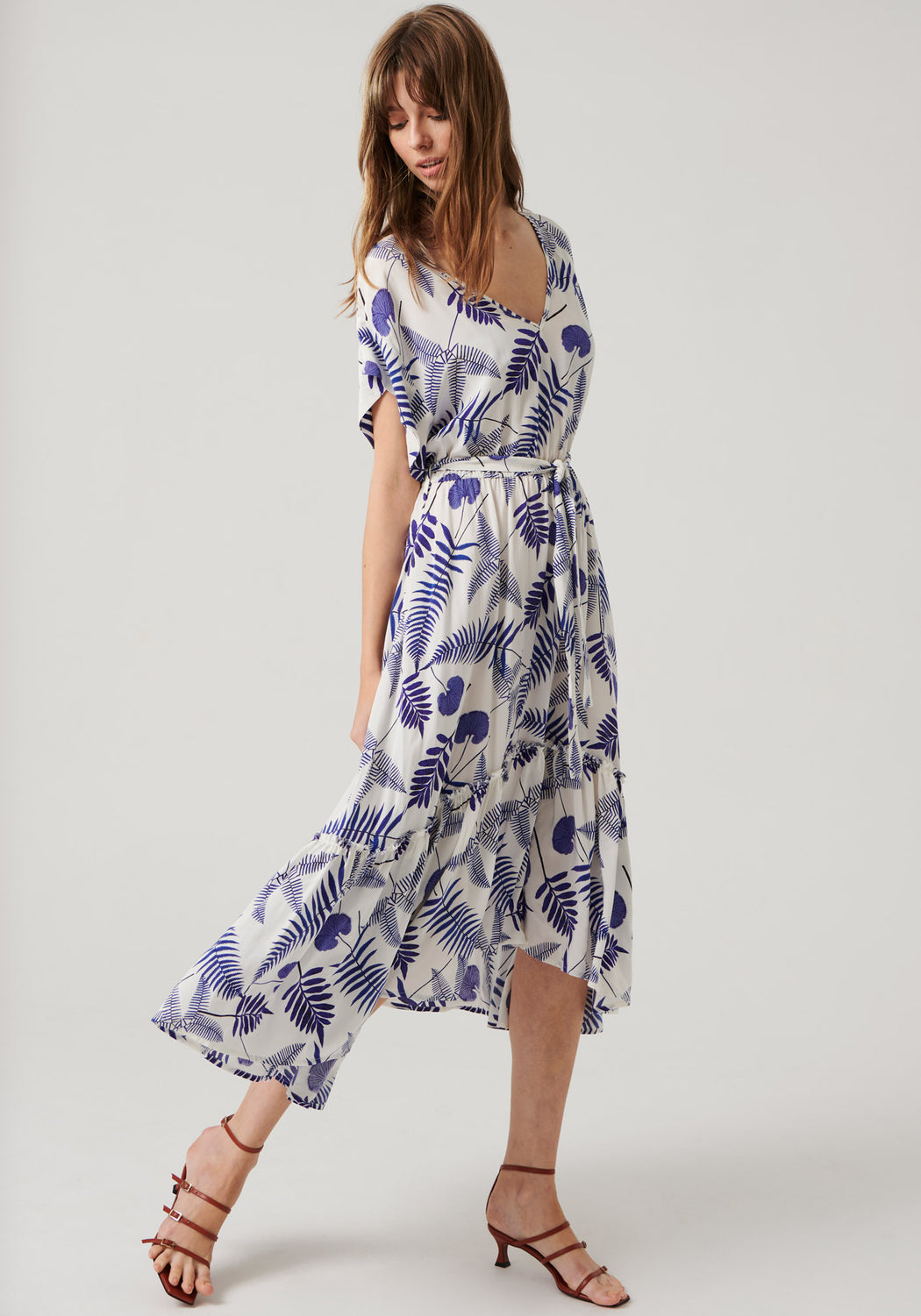 Sofia Flutter Sleeve Dress