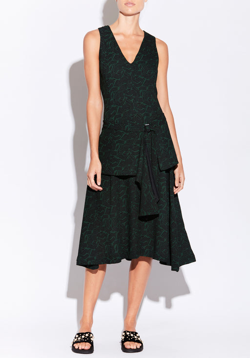 Kati Dress With Draped Belt