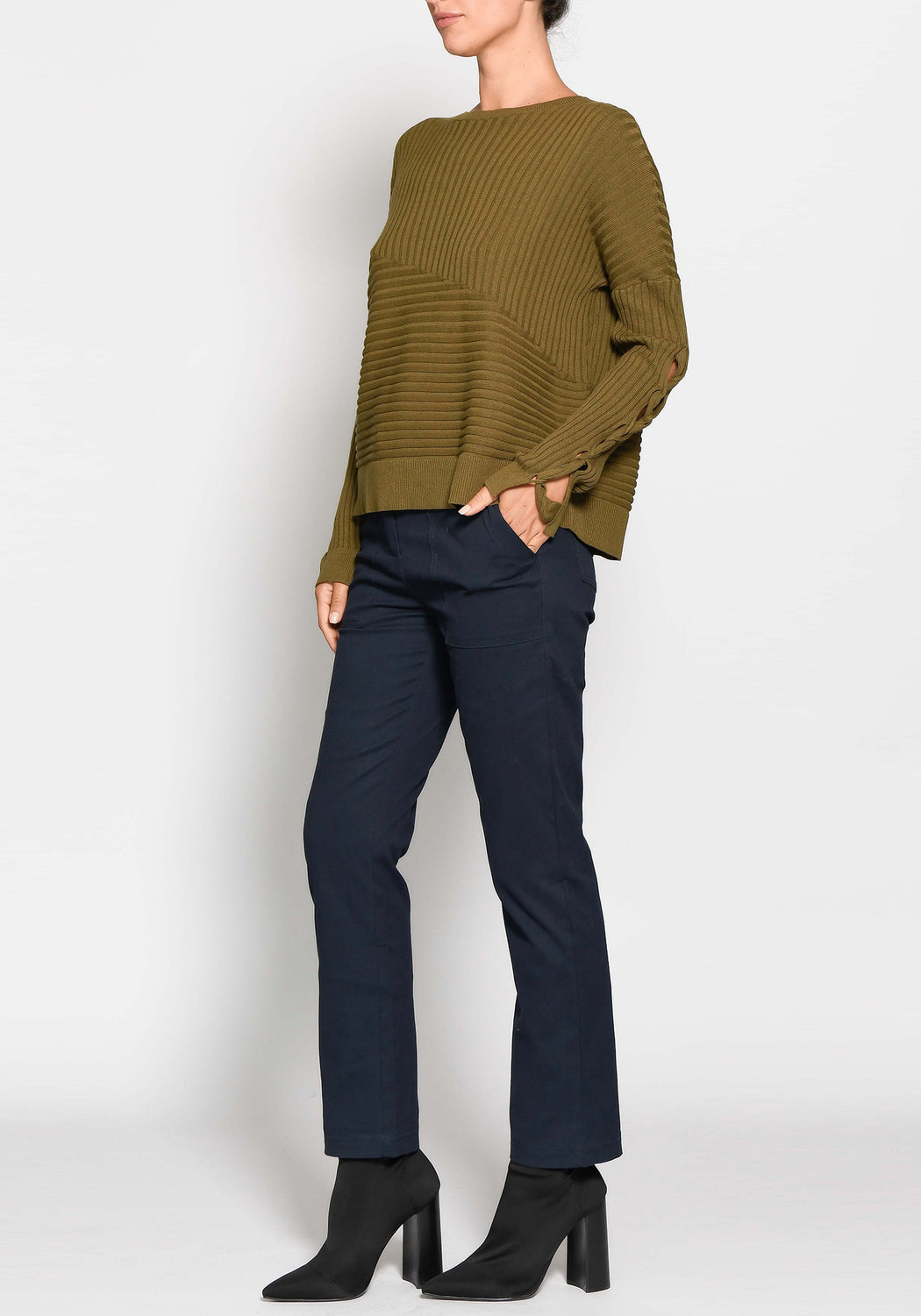 Trace Tie Sleeve Knit