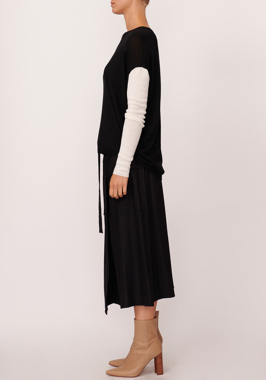 Scope Stripe Sleeve Knit
