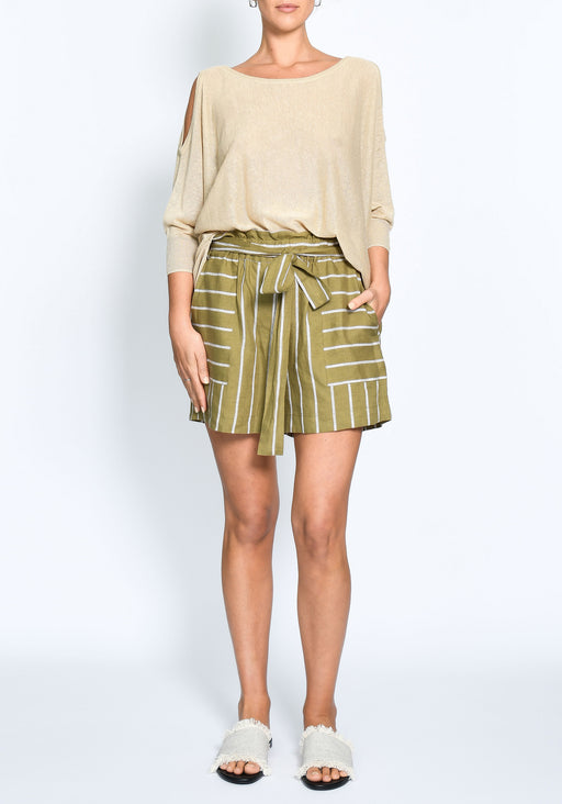 Agave Linen Tie Shorts