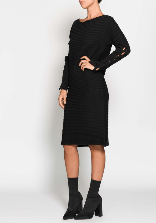 Trace Tie Sleeve Knit Dress