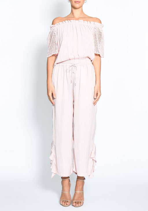 Oasis Cropped Ruffle Pant