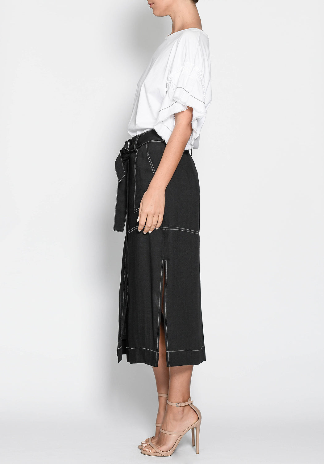 Lyon Topstitch Skirt