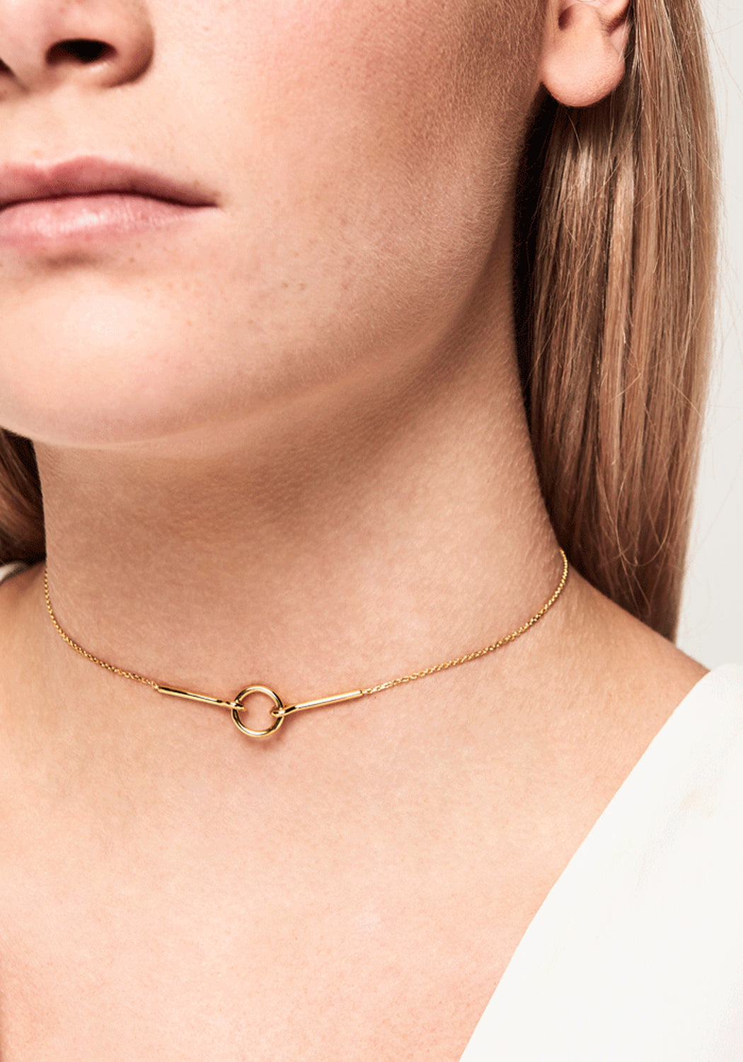 Chance Open Circle Necklace Gold