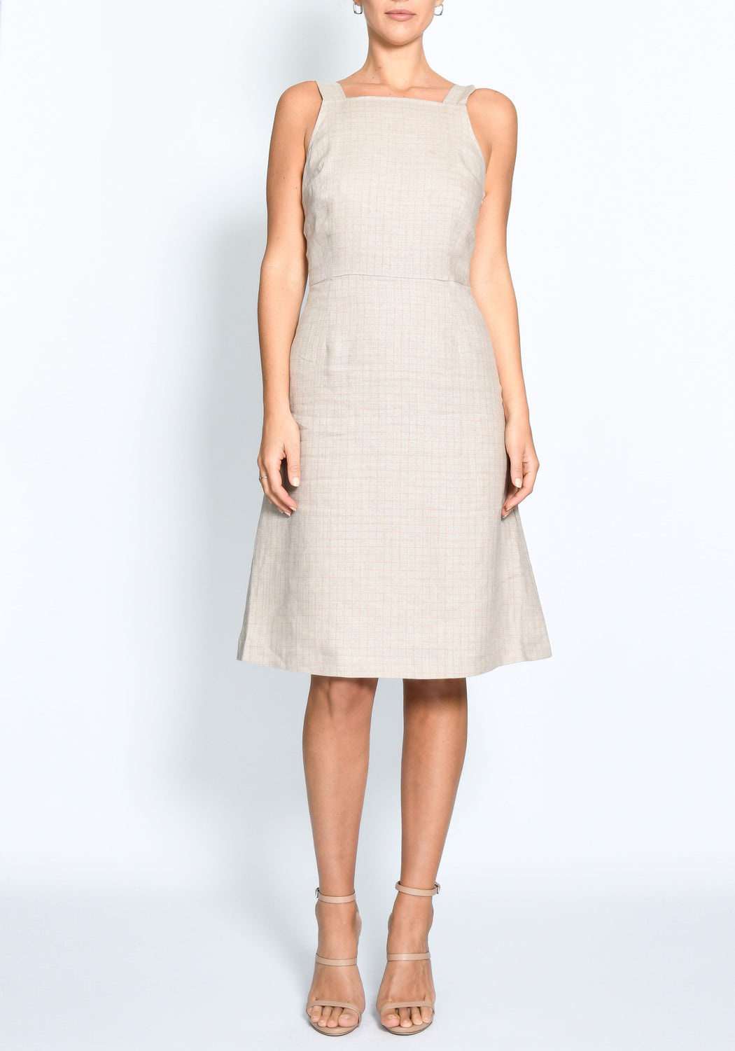 Grid Tie Back Dress