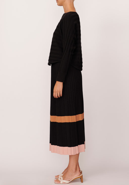 Maple Pleat Knit Skirt