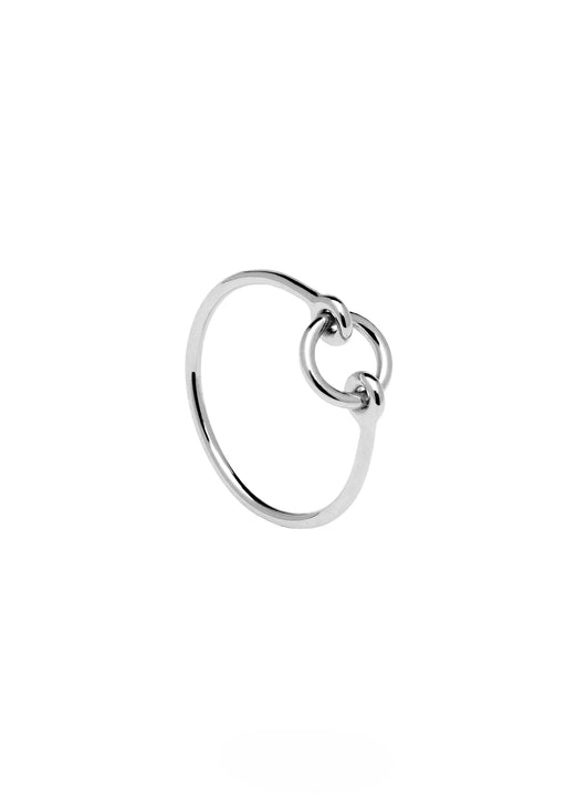 Chance Silver Open Circle Ring