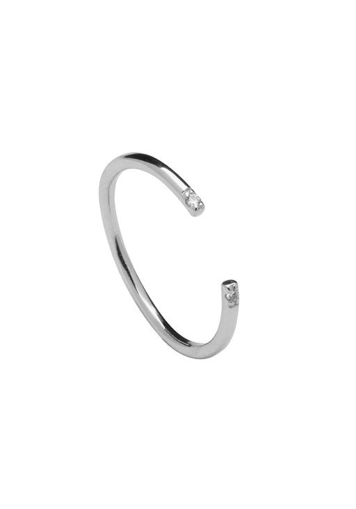 Moonlight Silver Open Cuff Ring