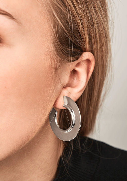 Ninette Silver Hoop Earrings