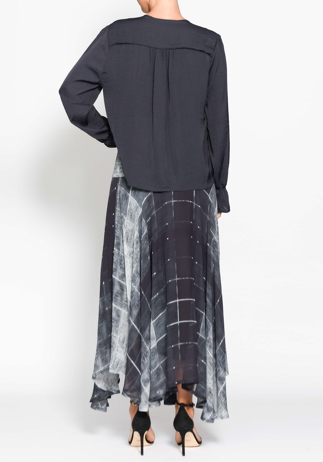 Divided Silk Skirt
