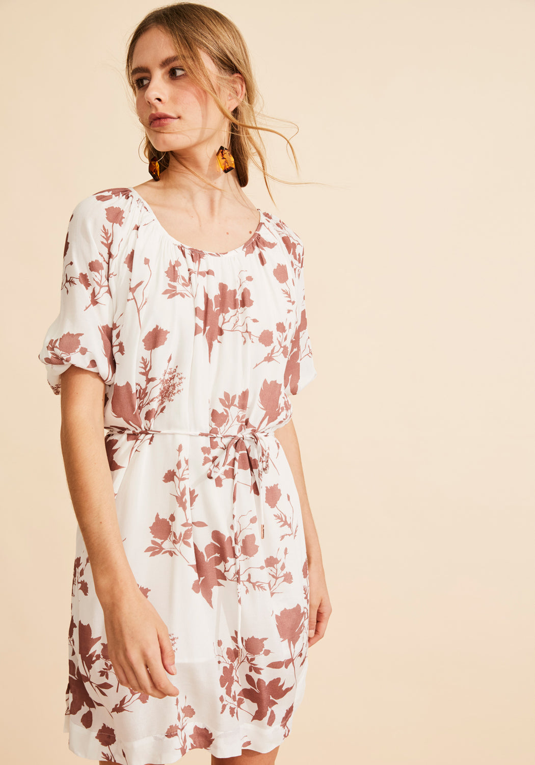 Arcadia Balloon Sleeve Dress