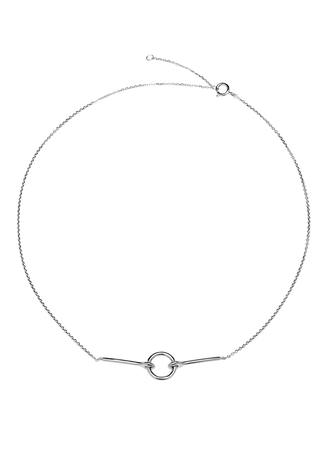 Chance Open Circle Necklace Silver