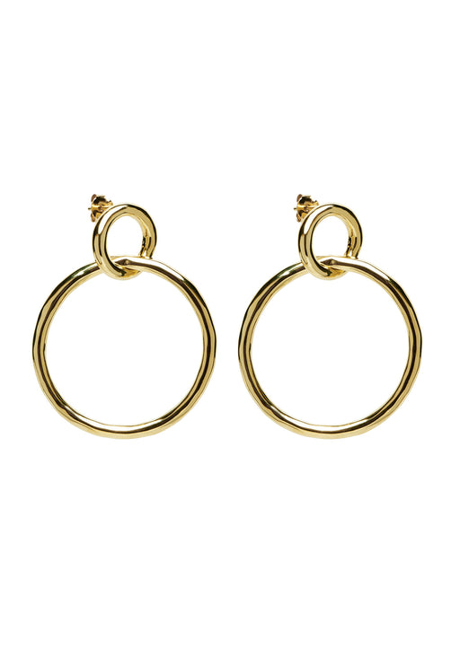 Valentina Gold Double Hoop Earrings
