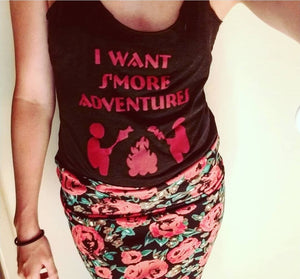 I Want S'more Adventures Wander People Racerback Tank Top