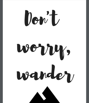 Don't Worry, Wander Poster