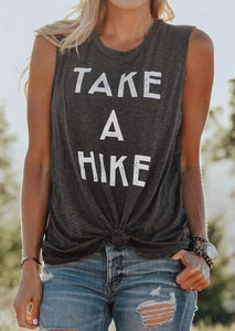 Grey women's take a hike comfy tank