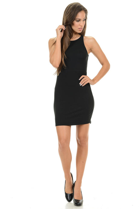 Women's Little Backless Black Dress