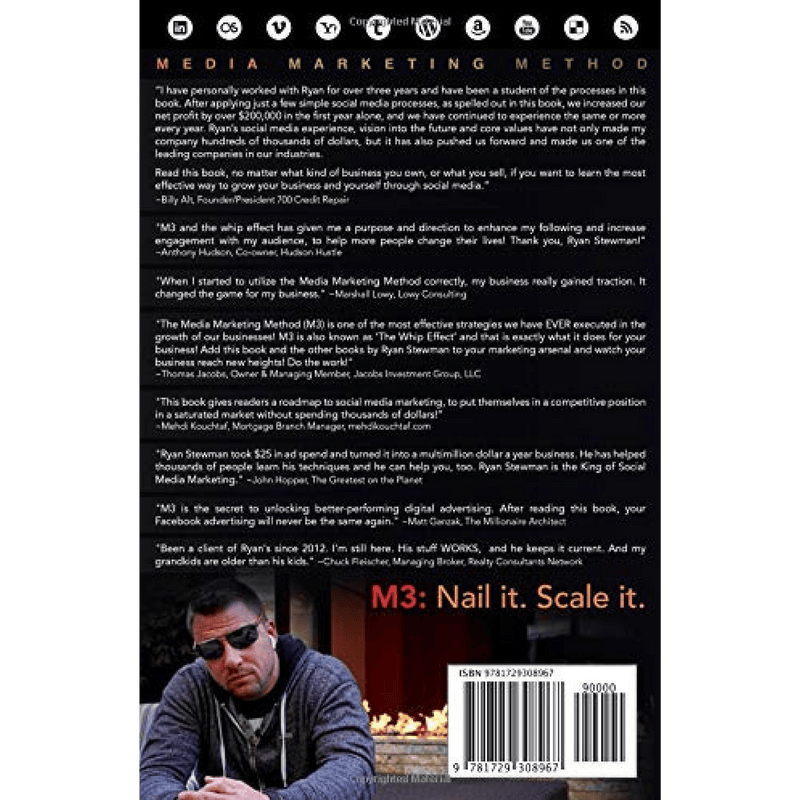 M3: Media Marketing Method; Ryan Stewman (Back Cover)