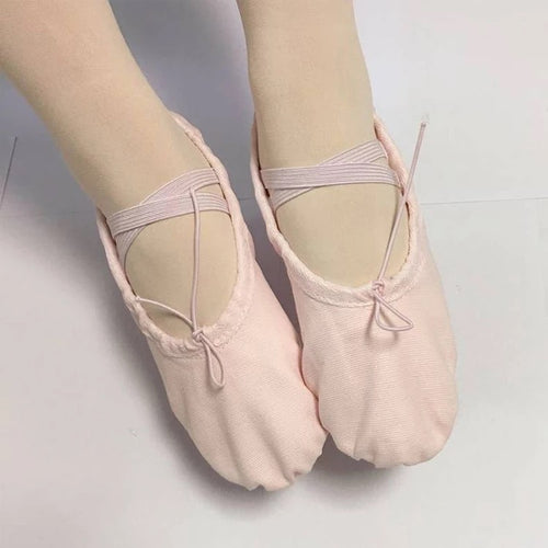 Canvas split sole foldable kids/adults Ballet shoes (Ballet Pink or Black)
