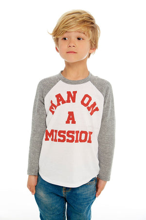 Man on a Mission Baseball Tee