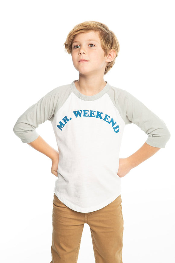 Mr. Weekend 3/4 Sleeve Baseball Tee