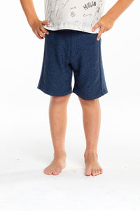 Cozy Knit Rib Panel Shorts