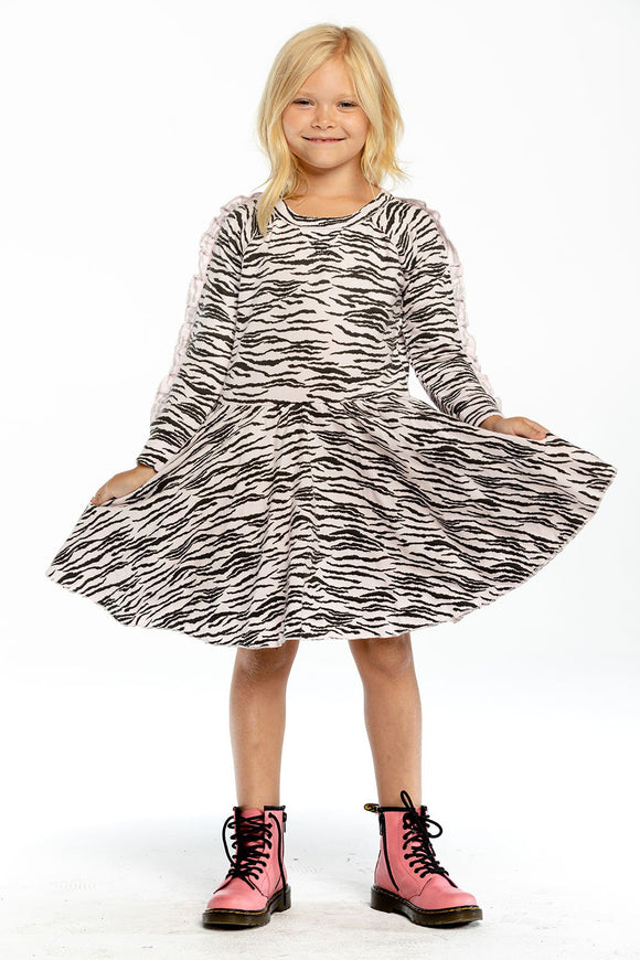 Pink Zebra sweatshirt dress