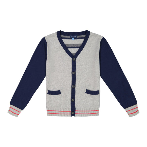 Striped Varsity Cardigan