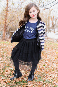 Layered Black Tulle Skirt