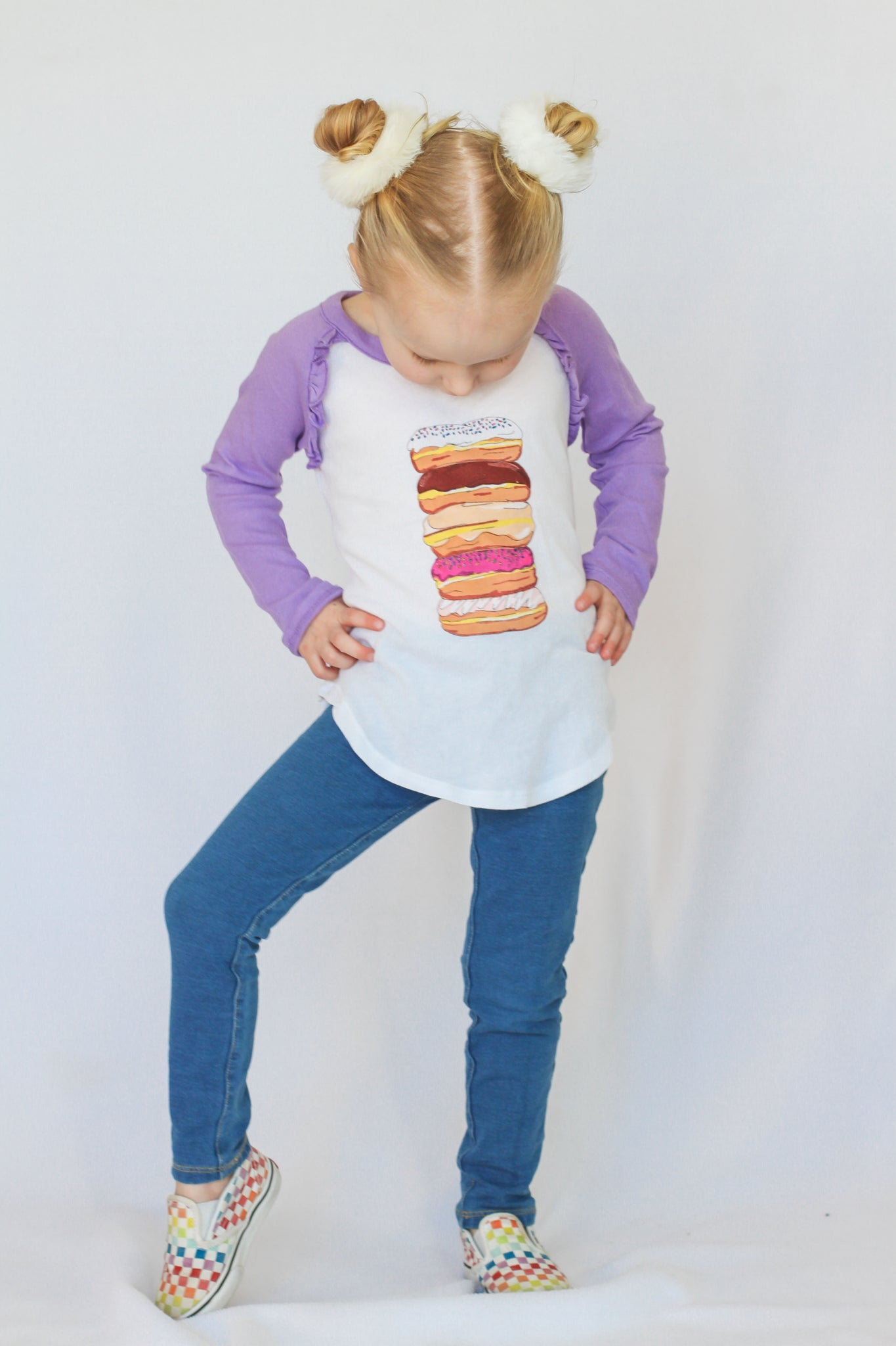 Donut Stack Ruffle Long Sleeve