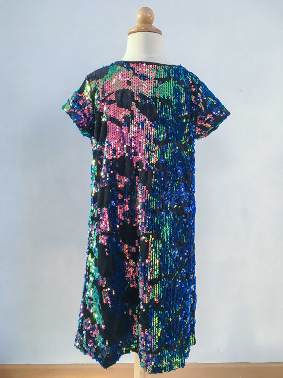 Reversible Sequin Velvet Shift Dress
