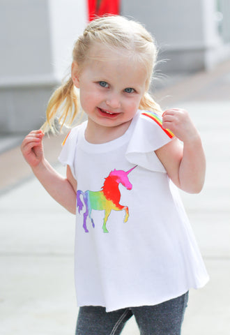 Unicorn Flutter Sleeve Tee