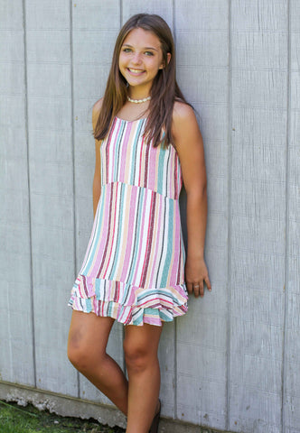 Stripe Ruffle Dress