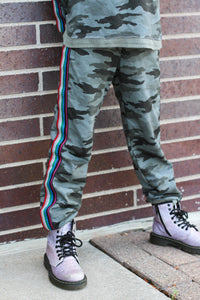 Camo Pants with Trim