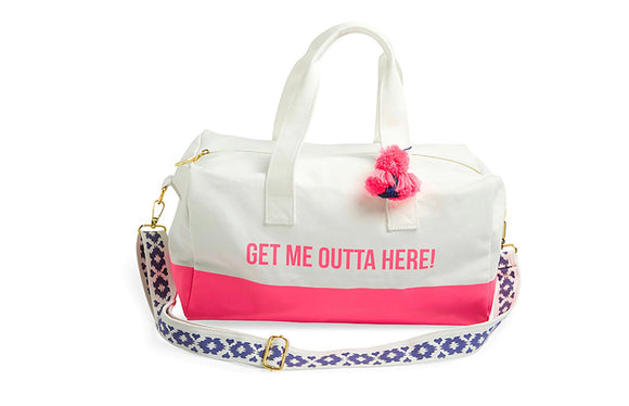 Get Me Outta Here! Canvas Duffel Bag