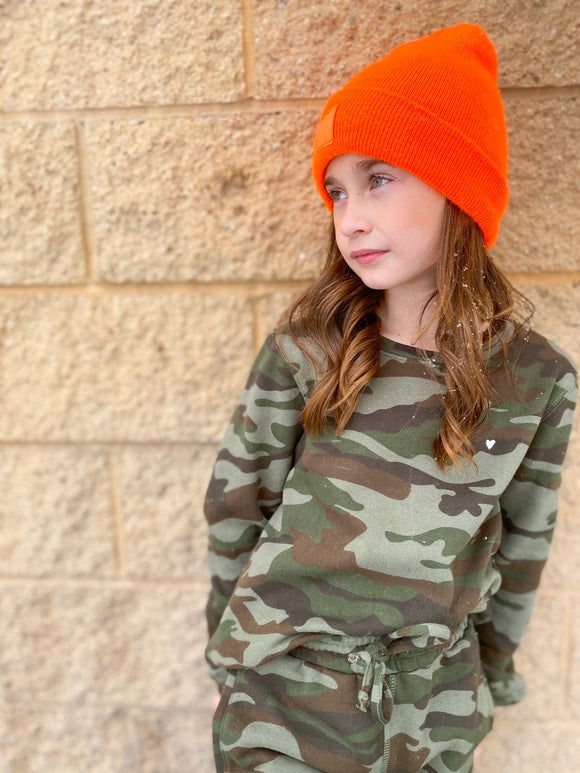 Heart Camo Youth Sweatshirt