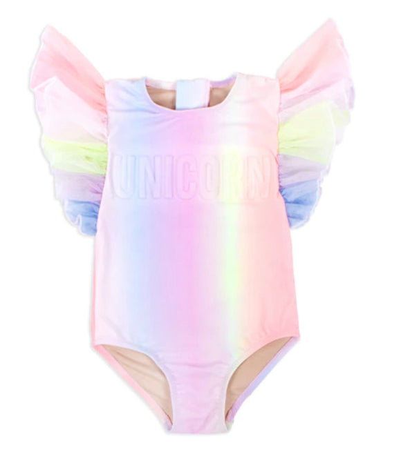Flutter Sleeve Unicorn Swimsuit