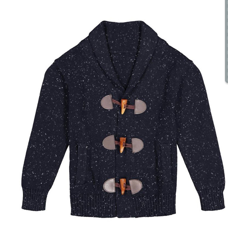 Skin Navy Toggle Cardigan