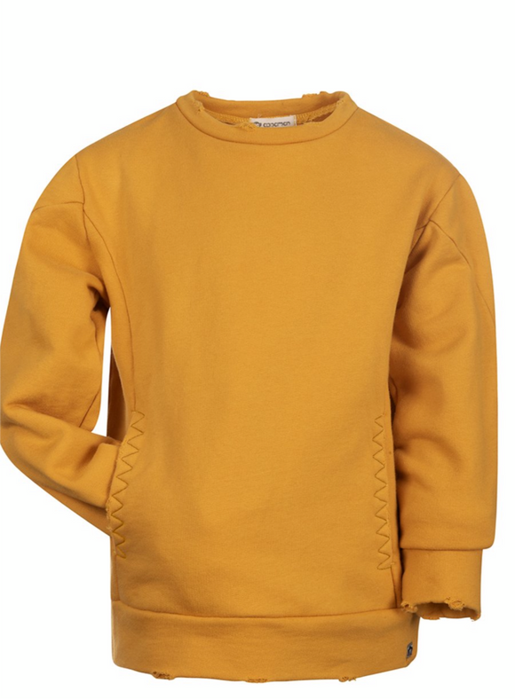 Feature Old Gold Crewneck Sweatshirt