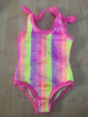 Pink One Piece Flip Swimsuit