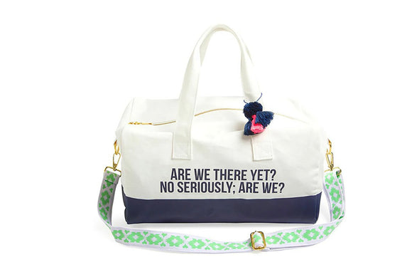 Are We There Yet? Canvas Duffel Bag