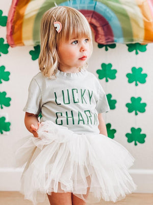 Lucky Charm Tee in light olive