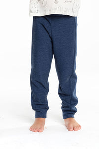 Cozy Knit Rib Panel Pants