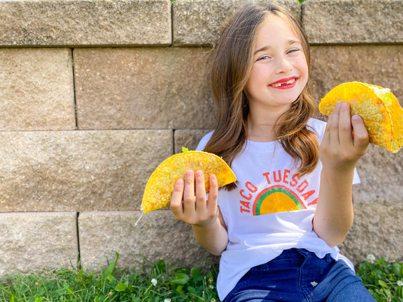 Taco Tuesday Youth Size Crop Tee