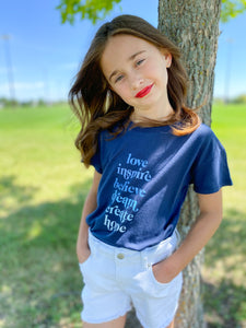 Love List Youth Size Crop Tee