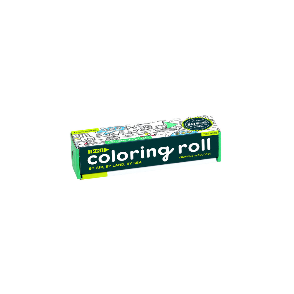 Mini Coloring Roll By Air Land and Sea